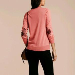 NWOT Burberry Brit Pink Nova Check Sweater L 10 12